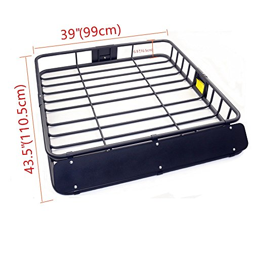 Yy Black Steel Basket Carrier Roof Rack Car Top Cargo Storage Luggage Suv  43