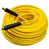 Fixsmith 300 PSI Hybrid (PVC/Rubber) Air Hose 3/8-Inch by 100-Feet,1/4-Inch Brass MNPT Ends,Lightweight,Non-Kinking,Extreme All-Weather Flexibility ATMA0238100.