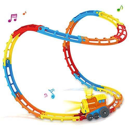 奇抜な転がる電車のレールのセット 23レール 光と音付の商品画像