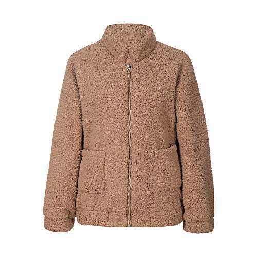 ZHRUI Abrigo Mullido de Bolsillo para Mujer Abrigo Mullido Abrigo de Lana Ropa de Abrigo Abrigo (Color : Gris, tamaño : Metro): Amazon.es: Hogar