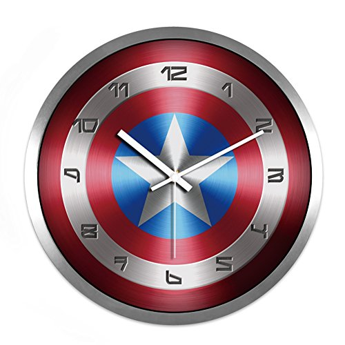 The Avengers Captain America Noiseless Wall Clock (A Silver)
