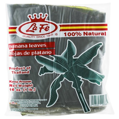Frozen Banana Leaves (Hojas de Platano) by La FE - 1 Lb Pack (Count of 2)