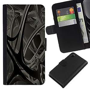 // PHONE CASE GIFT // Moda Estuche Funda de Cuero Billetera Tarjeta de crédito dinero bolsa Cubierta de proteccion Caso Sony Xperia Z3 D6603 / Abstract 3D /