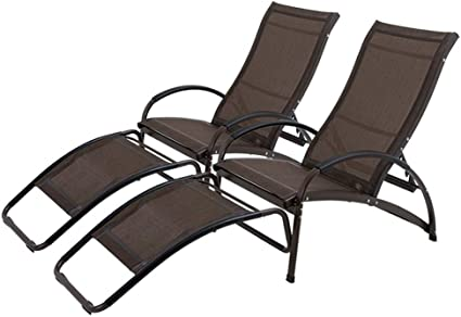 Folding Chaise Lounge Chair Outdoor Lounger Padded Patio Furniture Durable Steel Frame Weather Resistant Fabric Garden Terrace Chairs Portable Sunbathing Relaxing