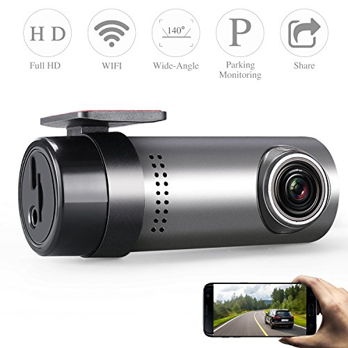 GZDL Wireless Dash Cam WiFi Dashboard Camera Car Camera Recorder Vehicle Camera Mini Small Car DVR Video Recorder Blackbox 140 Wide Angle
