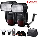 Canon Speedlite 600-EX Flash International Version No Warranty (2-Pack) Accessory Kit