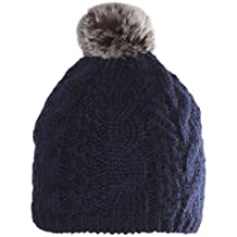 Chaos Tendril Mohair Cable Beanie With Faux Pom