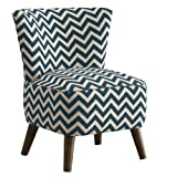 Skyline Furniture Mid Century Modern Chair in Zig Zag Titan Birch