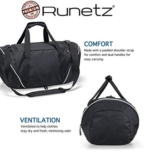 Runetz Gym Bag for Women and Men Duffle Bag with Wet Pocket, Travel Gym Bag 26b7028c99