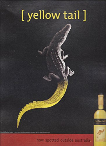 print-ad-for-yellow-tail-2004-chardonnay-wine-alligator-tail-now-spotted-outs