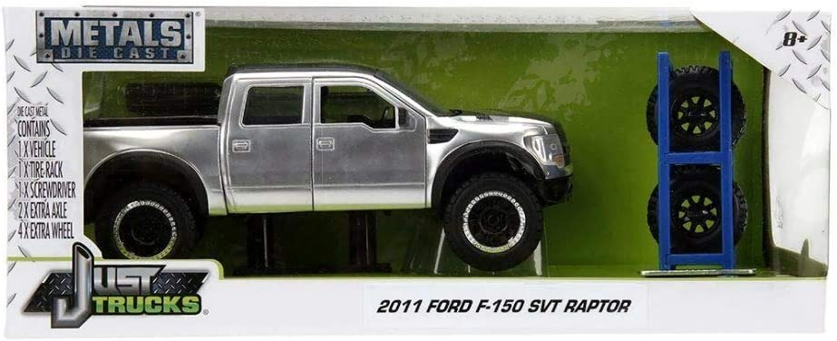 1/24 Jada 2011 Ford F-150 SVT Raptor with Extra Wheels Diecast ...