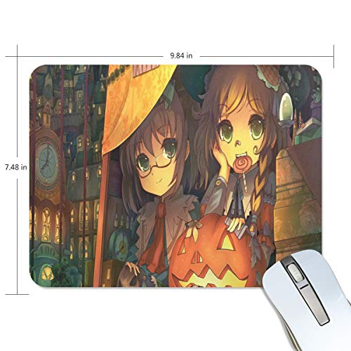 Mouse Pad Halloween Cute Anime Girl Gaming Mousepad 3D Small Thick Mouse Mat Black Hot Mouse Pads ()