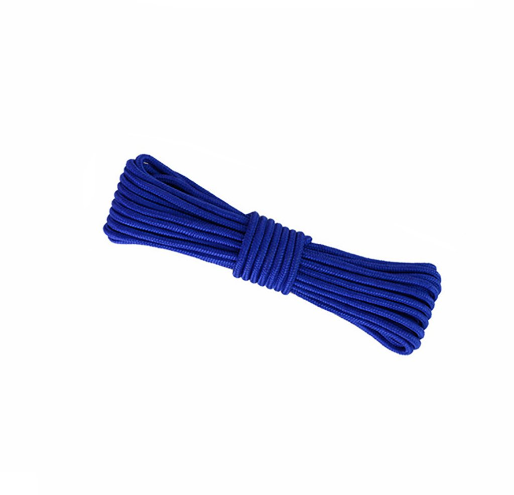 Climbing Rope,Blue 10M, 20M, 50M, 100M, Rock Climbing Rope,Diameter 8mm/10mm Outdoor Explore Escape Rescue Rope,High Strength Nylon Rope Safety Rope (Color : Diameter-10mm, Size : 10M)