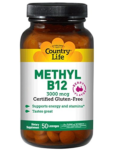 Mcg 50 Lozenges (Country Life Methyl B12 3000 mcg 50 Lozenges)