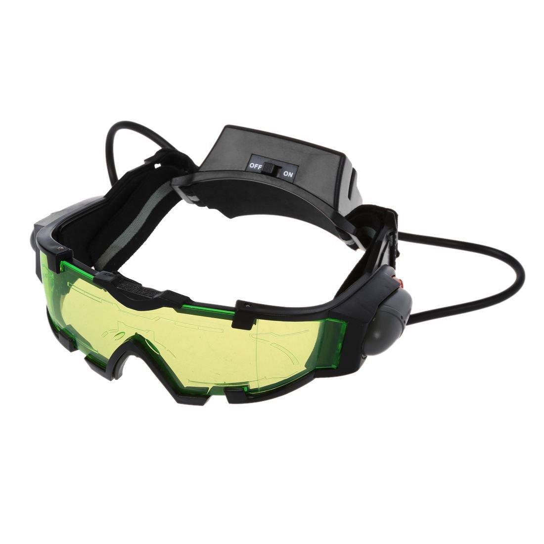SODIAL(R) Gafas de vision nocturna con azul flip-fuera llevaron luces, Night Vision Goggles 044077
