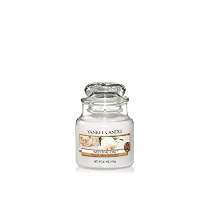 Yankee Candle Small Jar Candle, Wedding Day, White