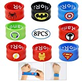 Comics Cartoon Pirate Dress up Satin Cape Cosplay Kids Costume Party Supplies - Birthday Gifts for Kids with Felt Masks Pack of 3 (3pcs) (Wristband)