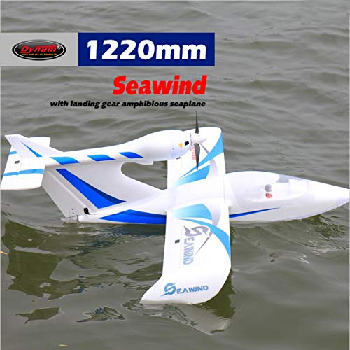 DYNAM RC Airplane Seawind Blue 1220mm Wingspan – SRTF