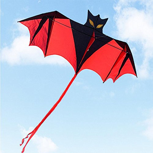 New 1.8m 70in Vampire Bat Kite Red Easy To Fly Great Outdoor Fun Sports Educational Toy Gift for Kids - Waymine by Waymine Toy
