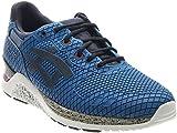 ASICS Men's Gel-Lyte EVO NT Retro Running Shoe, Mid Blue/Navy, 10.5 M US