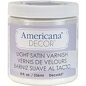 Deco Art Varnish, 8-ounce, Light Satin