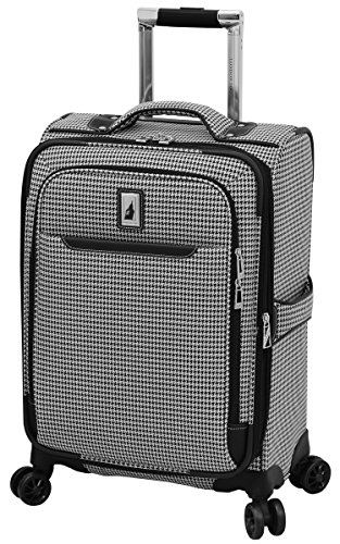 London Fog Cambridge II 20'' Expandable Spinner, Black White Houndstooth by London Fog
