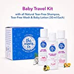 The Moms Co. Travel Kit for Baby with Shampoo (30 ml), Wash (30 ml) and Lotion (30 ml)