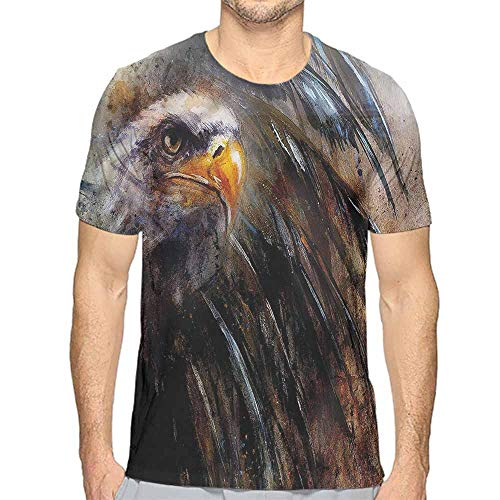 t Shirt for Men Eagle,Angry Bird Black Feathers Custom t Shirt XXL