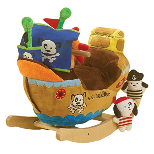 Ahoy Doggie Pirate Ship Rocker - Encourages Role Play and Imaginative Play For Children upto 80 lbs