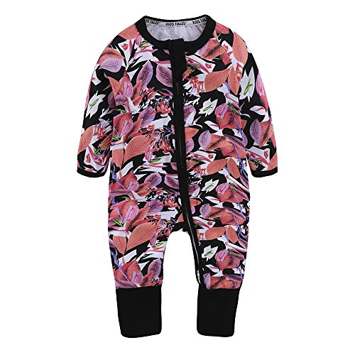 - Kids Tales Baby Infant Handed Footed Double Zipper Pajamas Sleeper Cotton Romper(Size 4-24M)