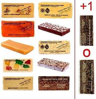 Lote de 10 Turrones artesanos variados (+1 de Regalo). 3,1 KG – Turrones Fabián - Pack