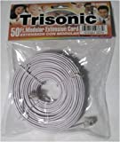 Trisonic Telephone Extension Cord Phone Cable Foot, White