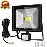 MK Security Lights, 50w LED Floodlights with Motion Sensor, Waterproof LED PIR Flood Lights Outdoor, High Output 5000 Lumen 150W HPS Lights Equivalent Replaced, Super Bright LED PIR Flood light, Ideal for Garden, Car park, Hotel and Forecourt, Daylight White