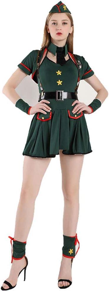 CAGYMJ Dress Party Mujer Vestido Cosplay,Mujer Policía Falda Corta ...