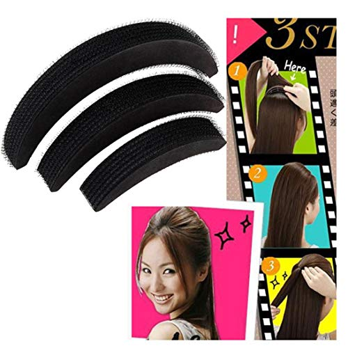 Lip Blu Gloss Ray (Tpingfe Hair Volume Increase Puff Sponge Pad Bump Up Insert Base DIY Updo Styling, 3PCS)