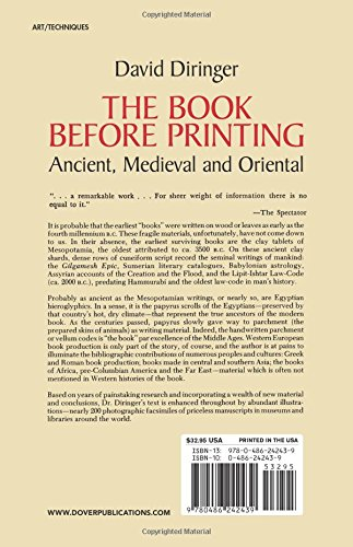 The book before printing ancient medieval and oriental lettering the book before printing ancient medieval and oriental lettering calligraphy typography david diringer 9780486242439 amazon books fandeluxe Images