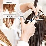Professional Hair Cutting Scissors Set Hairdressing Scissors Kit, Hair Cutting Scissors, Thinning Shears, Hair Razor Comb, Clips, PLYRFOCE Shears Kit for Home, Salon, Barber