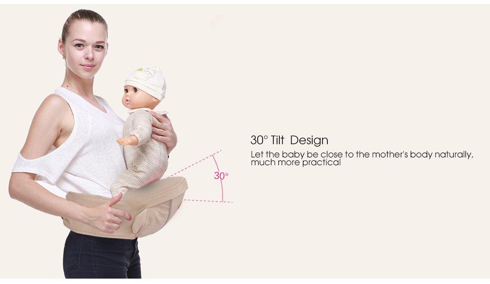 65-115cm f/ür 0-36 Monaten Baby H/üftsitz Ergonomische Babytrage Babytragetuch Baby Carriers 25kg Tragf/ähigkeit Taillenumfang Braun