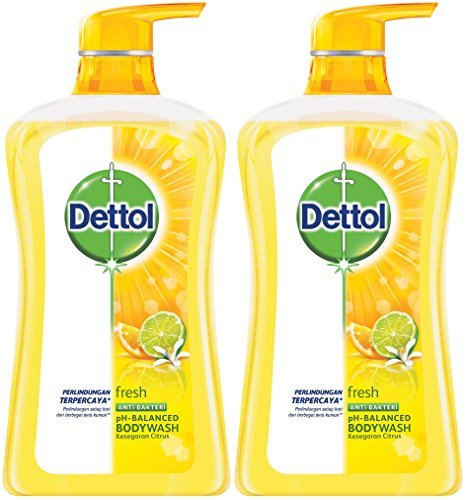 Dettol Anti Bacterial pH-Balanced Body Wash, Fresh, 21.1 Ounce/625 Ml (Pack of 2) (Best Ph Balanced Body Wash)