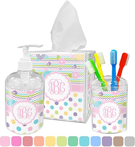 Girly Girl Bathroom Accessories Set (Personalized) (Personalized Bathroom Sets)