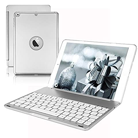 New iPad 9.7 Keyboard Case,Dingrich 7 Color Backlit Aluminum [Built in Stand] Bluetooth Keyboard Case for New iPad 9.7 inch 5th Generation iPad (NOT for iPad Pro 9.7) (Ipad Generation Case)