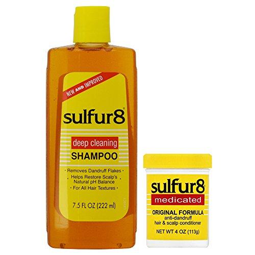 - Sulfur8 Anti-Dandruff Hair & Scalp Care Shampoo 7.5oz + Conditioner 4oz Duo