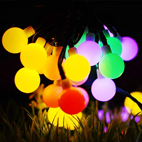 - Hiistandd String Lights,22.3ft 50 LEDs Waterproof Ball Lights,8 Lighting Modes,Plug in Starry Fairy String Lights Bedroom,Garden,Christmas Tree,Wedding,Party(Four Colors)