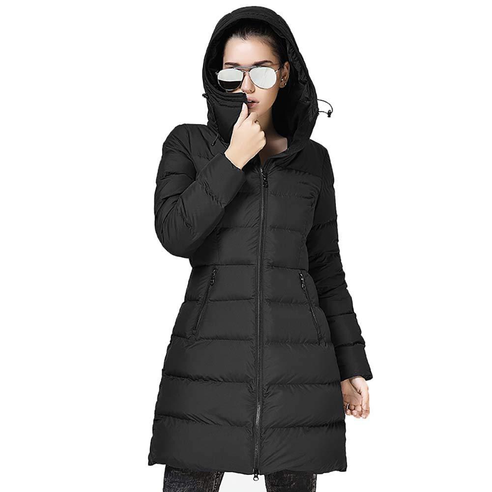 Down jacket Abajo Chaqueta_al Aire Libre De La Mujer Ganso OtoñO E Invierno Abrigo Ultraligero con Capucha Cintura Delgada Adelgazamiento Prendas De Vestir ...