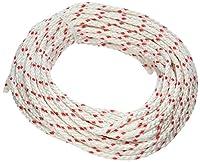 Lehigh Group BPE850W Polypropylene Diamond Braid Rope, 50', White/Red