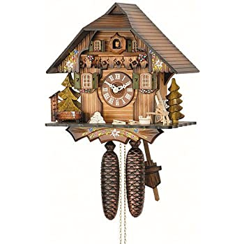 Amazon.com: German Cuckoo Clock 8-day-movement Chalet-Style 13 ...
