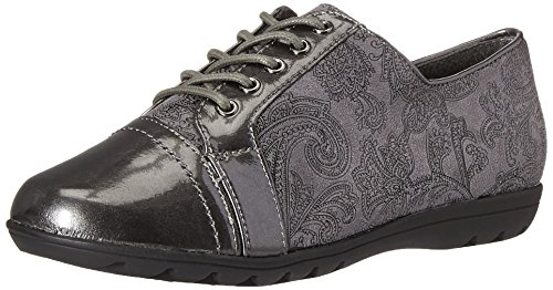 Patent US Soft Oxford Paisley Suede Valda Puppies M 5 Faux 7 Hush Women's Dark Style Pearlized Grey anAqw7