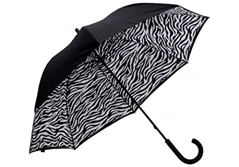 photo regarding Umbrella Pattern Printable named Elite Rain Umbrella Lotus Body Umbrella - Zebra Print In