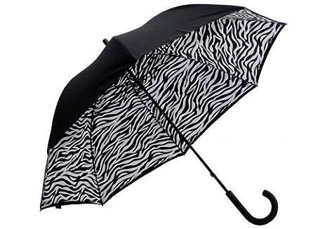 image regarding Umbrella Pattern Printable referred to as Elite Rain Umbrella Lotus Body Umbrella - Zebra Print Within