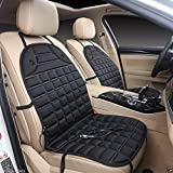 Heated Car Seat Cushion with Temperature Control in Black (12V)